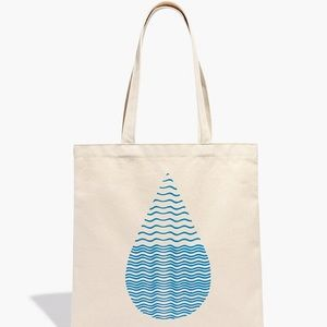 Madewell x charity water tote bag